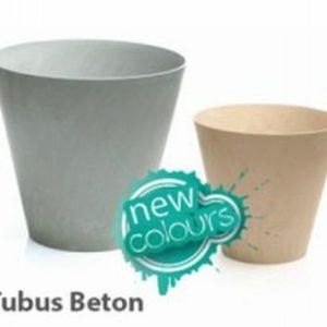 Plastový květináč 12L TUBUS BETON | Jipos.cz