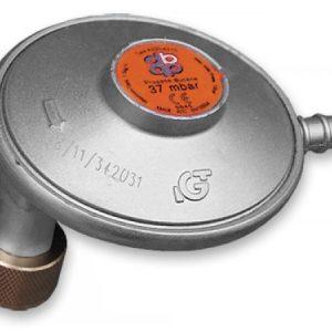 Úhlový regulátor tlaku plynu 37mbar