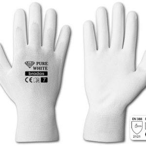 "Rukavice ochranné 11"" polyuretan PURE WHITE | Jipos.cz"