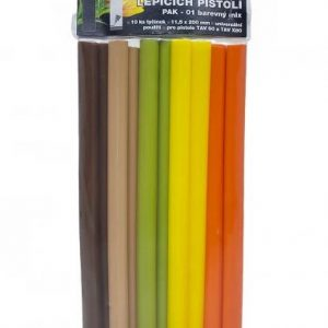 Tavné lepidlo PAK 01 tyčinky 11x200mm 10ks barevný mix (jaro) | Jipos.cz