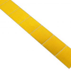 Samolepící páska reflexní dělená 1m x 5cm žlutá | Jipos.cz