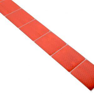 Samolepící páska reflexní dělená 1m x 5cm červená | Jipos.cz