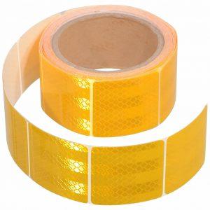 Samolepící páska reflexní dělená 5m x 5cm žlutá (role 5m)   Jipos.cz
