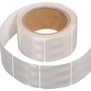 Samolepící páska reflexní dělená 5m x 5cm bílá (role 5m)   Jipos.cz