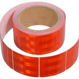 Samolepící páska reflexní dělená 5m x 5cm červená (role 5m) | Jipos.cz