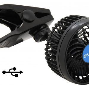 Ventilátor MITCHELL 115mm USB 5V klips | Jipos.cz