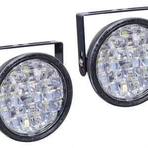 Světla denního svícení kulatá 18 LED/12V   Jipos.cz