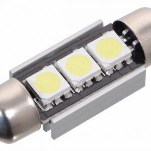 Žárovka 3 SMD LED 12V suf. SV8.5 36mm s rezistorem CAN-BUS ready bílá | Jipos.cz