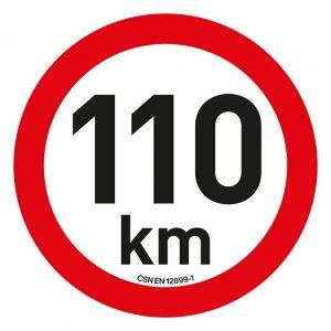 Samolepka omezení rychlosti  110km/h reflexní (200 mm)   Jipos.cz
