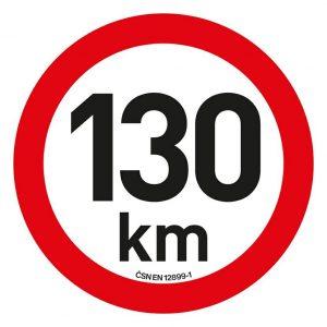 Samolepka omezení rychlosti  130km/h reflexní (200 mm)   Jipos.cz