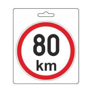 Samolepka omezená rychlost 80km/h (110 mm)   Jipos.cz