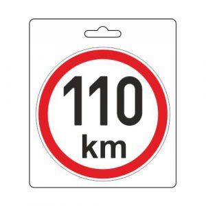 Samolepka omezená rychlost 110km/h (110 mm)   Jipos.cz