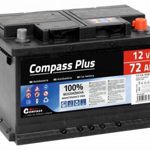 Autobaterie COMPASS PLUS 12V 72Ah 640A | Jipos.cz