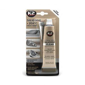 K2 SILICONE CLEAR 85g - vysokoteplotní čirý silikon   Jipos.cz