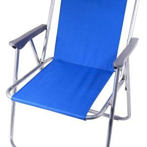 Židle kempingová skládací BERN modrá   Jipos.cz